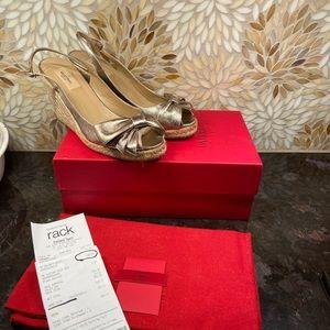 Valentino metallic wedge heels